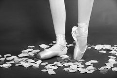 Ballet Dancer On Pointe Stock Photos