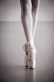 Ballet Dancer Pointe Shoes Royalty Free Stock Images