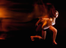 Ballet dancer posing on black studio background Royalty Free Stock Photography
