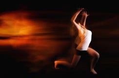 Ballet dancer posing on black studio background Royalty Free Stock Image