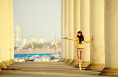 Ballet dancer posing in the city of St. Petersburg Royalty Free Stock Photography