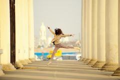Ballet dancer posing in the city of St. Petersburg Royalty Free Stock Photos