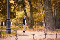 Ballet dancer posing in a garden the city of St. Petersburg Stock Image