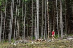 Ballet dancer posing outdoors stock photo