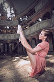 Ballet dancer posing on theatre Royalty Free Stock Image