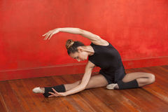 Ballet Dancer Practicing In Dance Studio Royalty Free Stock Photography