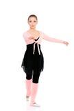Ballet dancer. Professional ballet dancer, isolated on white background Royalty Free Stock Image