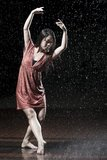 Ballet dancer in the rain Stock Photography