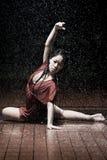 Ballet dancer in the rain Stock Images