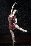 Ballet dancer in the rain Stock Images