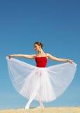 Ballet dancer on sand Royalty Free Stock Image