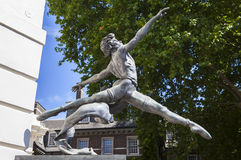Ballet Dancer Sculpture in London Stock Image