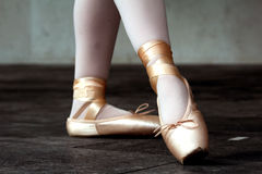 Ballet dancer shoes Stock Photos