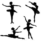 Ballet Dancer Silhouettes - 2 Royalty Free Stock Photo