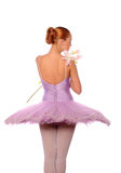 Ballet dancer smell lily Stock Photography