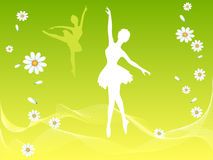 Ballet dancer in spring Royalty Free Stock Images