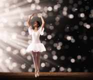 Ballet dancer on stage Royalty Free Stock Photo