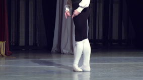 Ballet Dancer on Stage stock video footage