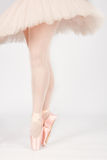 A ballet dancer standing on toes while dancing artistic conversi Stock Images