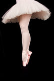 A ballet dancer standing on toes while dancing artistic conversi Royalty Free Stock Photo