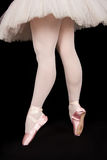 A ballet dancer standing on toes while dancing artistic conversi Stock Photo