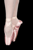 A ballet dancer standing on toes dancing Royalty Free Stock Photo