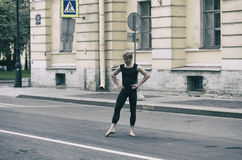Ballet dancer on the street Royalty Free Stock Image