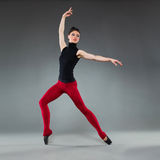 Ballet dancer tiptoe pose Royalty Free Stock Photos