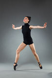 Ballet dancer tiptoe pose Royalty Free Stock Image