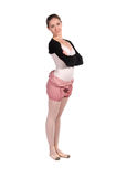 Ballet dancer in tracksuit is isolated Royalty Free Stock Image