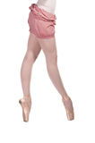 Ballet dancer in tracksuit is isolated Royalty Free Stock Photography