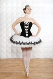 Ballet Dancer in Traditional Pancake Performance Outfit Stock Image