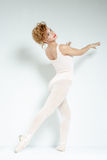 Ballet dancer. Train in the studio. Royalty Free Stock Images