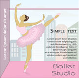Ballet dancer, vector illustration. Royalty Free Stock Image