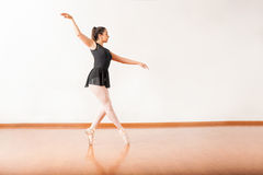 Ballet dancer walking on her toes Stock Photography
