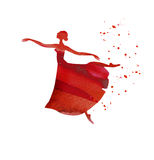Ballet dancer watercolor Stock Photography