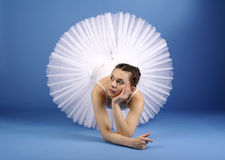 Ballet dancer in white tutu Stock Photos
