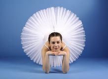 Ballet dancer in white tutu Royalty Free Stock Images