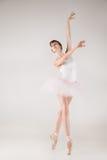 Ballet dancer in white tutu posing Royalty Free Stock Photo