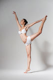 Ballet dancer in white wear Royalty Free Stock Image