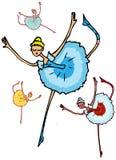 Ballet dancer woman, cartoon Stock Photography