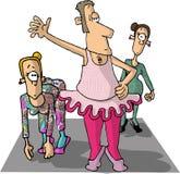 Ballet dancers royalty free illustration