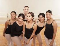 Ballet Dancers. Group of happy ballet dancers Stock Photos
