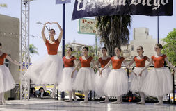 Ballet Dancers, ArtWalk, San Diego Stock Photo