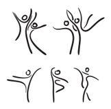 Ballet dancers. Ballet dancers black and white  illustration Royalty Free Stock Images