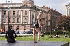 Ballet dancers Stock Image