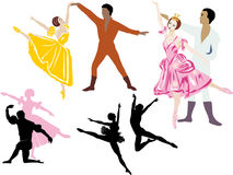 Ballet dancers illustration Royalty Free Stock Images