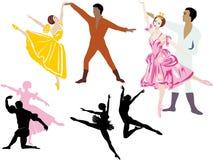 Ballet dancers illustration Royalty Free Stock Images