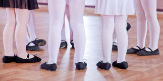 Ballet dancers, legs Stock Images