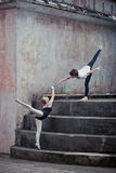 Ballet dancers in the outdoor Royalty Free Stock Photography